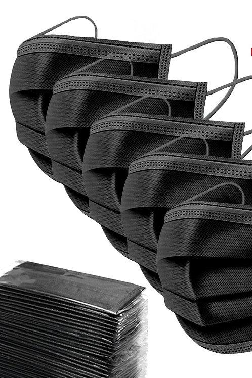Black Disposable Mask 3 Pack