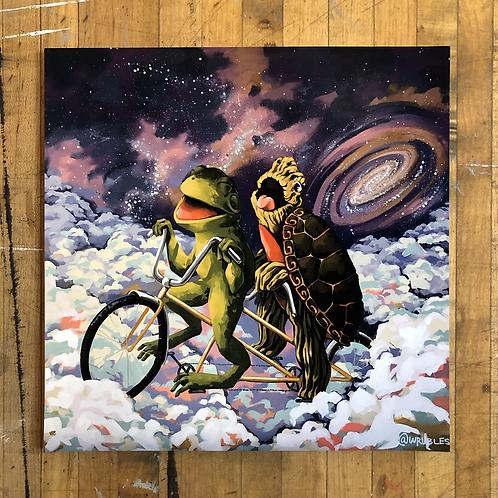 """Joyous Space Ride - 10""""x 10"""" art print"""