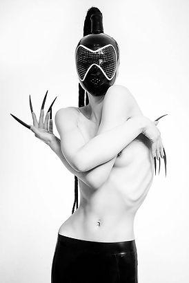 Latex Fashion Fetish Hood Mask Dayne Henderson Inflatable latex Rubber Fashion