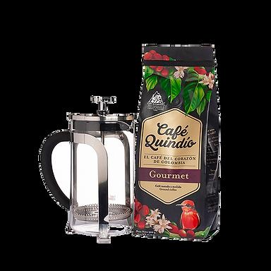 קפה גורמה 500 גרם + פרנץ' פרס