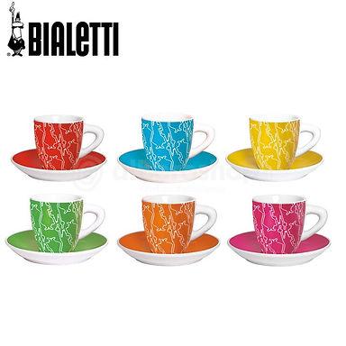 סט כוסות פורצלן  Bialetti
