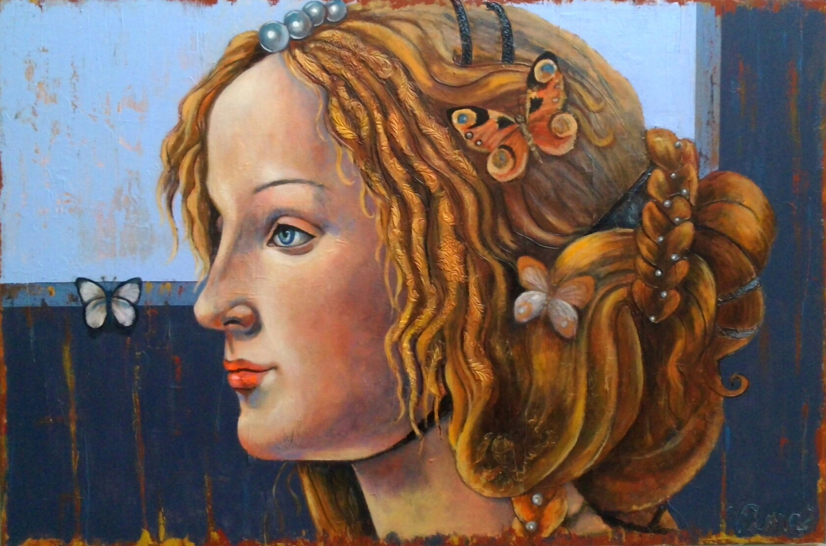 Botticelli muse blue