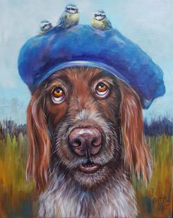 Blauwe baret