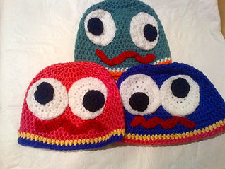 Hats that I crocheted to donate to child