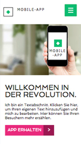 Technologie und Apps website templates – App-Landingpage