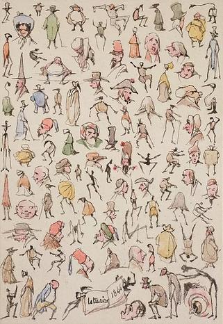 Exposition Pierre Letuaire                                                      (1798 -1885)        Ensemble d'aquarelles