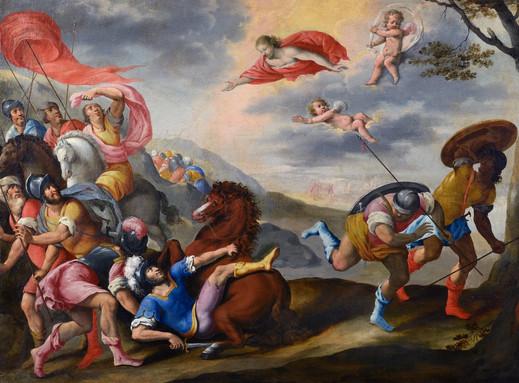 Ecole Française Vers 1610  - La Conversion de saint Paul