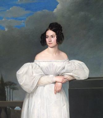 Claude Marie DUBUFE (1790-1864)   - Portrait d'une jeune fille de la famille Piton du Gault