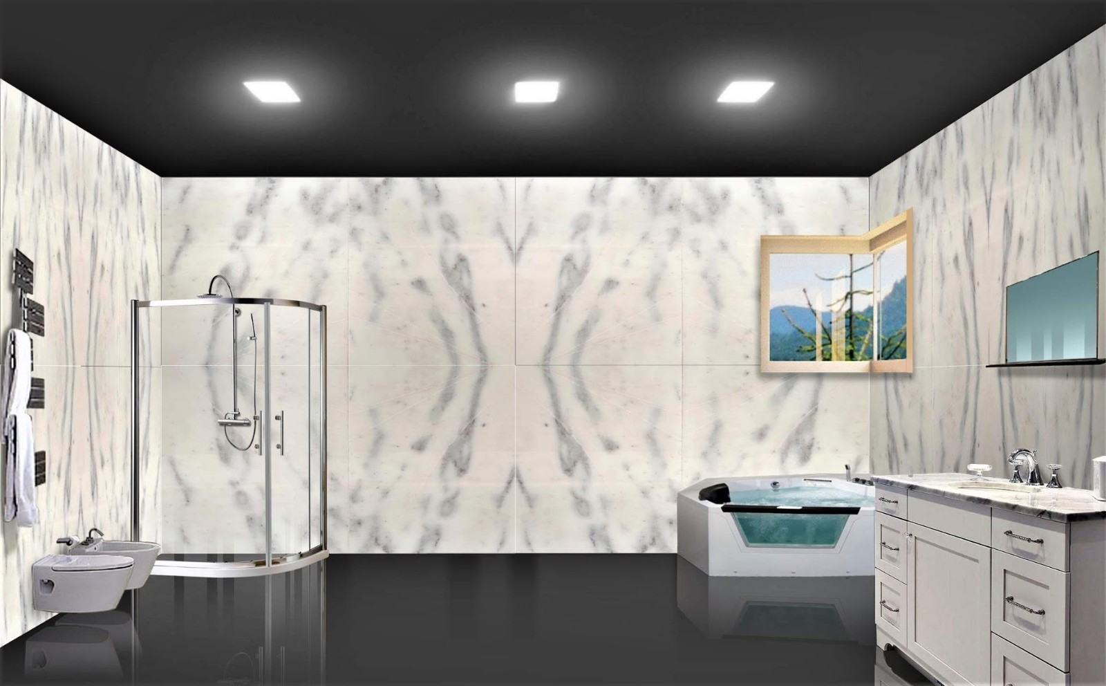 Bathroom design 1 (Walls)