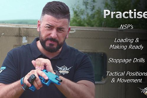 Glock 17 Training SPRING BB PISTOL - Blue