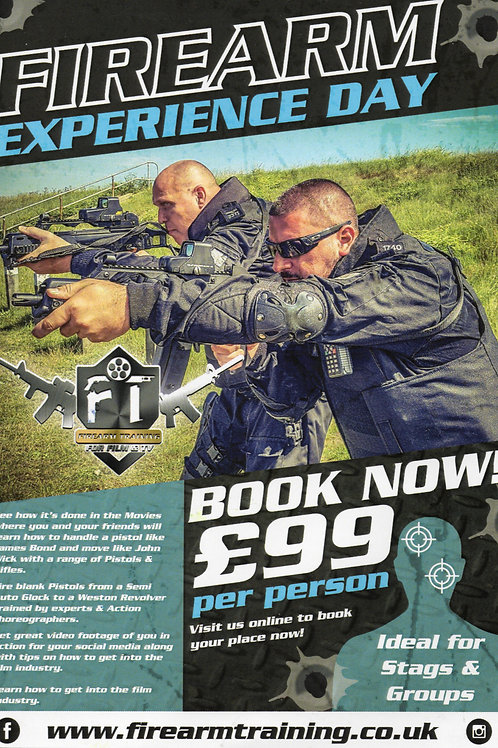 Firearm Experience Day ( 1 Day course for everyone )