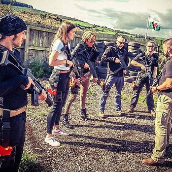 Actors & Supporting Artists training with Heckler & Koch G36 and UMP