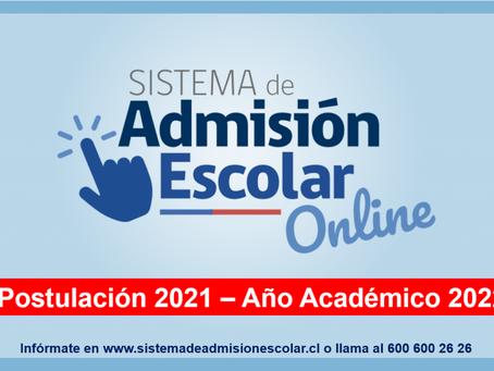 ADMISION ESCOLAR 2021