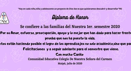 Diplomado de Honor Familias CNSC