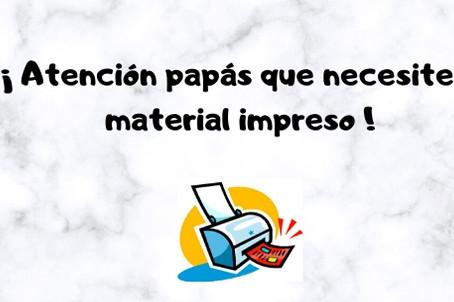 Impresión de Material