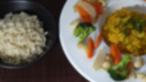Dahl de lentilles corail vegan