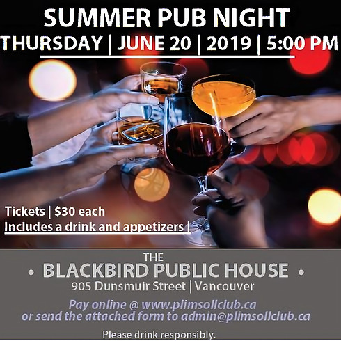Summer Pub Night - SOLD OUT!!!!