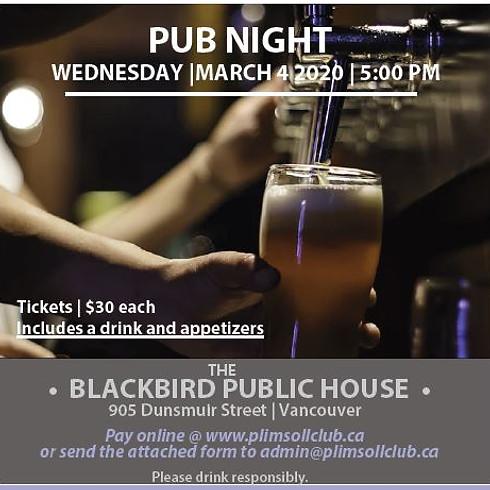 Plimsoll Club Pub Night