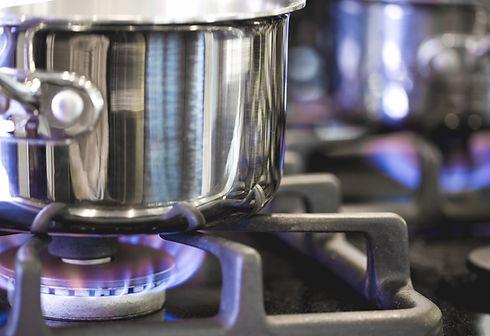 Pot på gasbrännare
