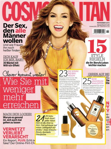 """IS Clinical in """"Cosmopolitan"""""""