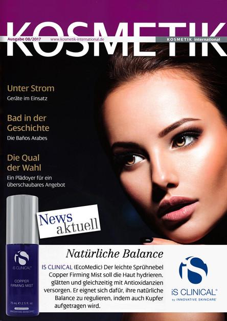 "IS Clinical in ""Kosmetik International"""