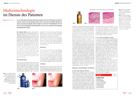 """IS Clinical in """"Face-Artikel"""""""