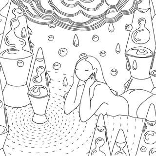 Mia Ohki Coloring Page 1 'Lava'