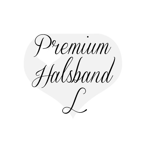 Design It yourself | Premium Halsband mit Scherenkarabiner L