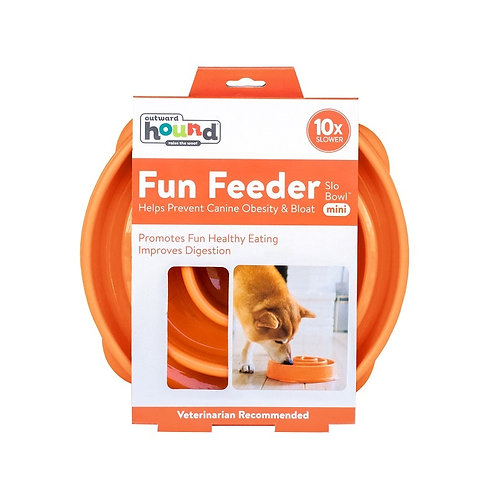 Outward Hound - Fun Feeder Orange MEDIUM