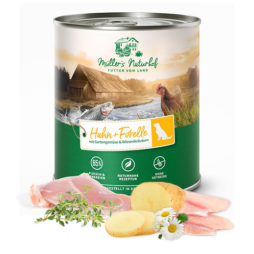 Müllers Naturhof - Huhn und Forelle 800g