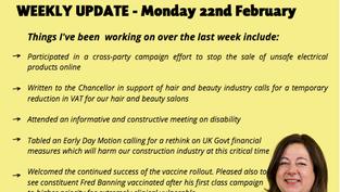 Weekly Update - 22nd February 2021