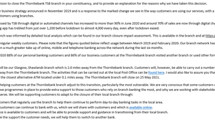 TSB closures
