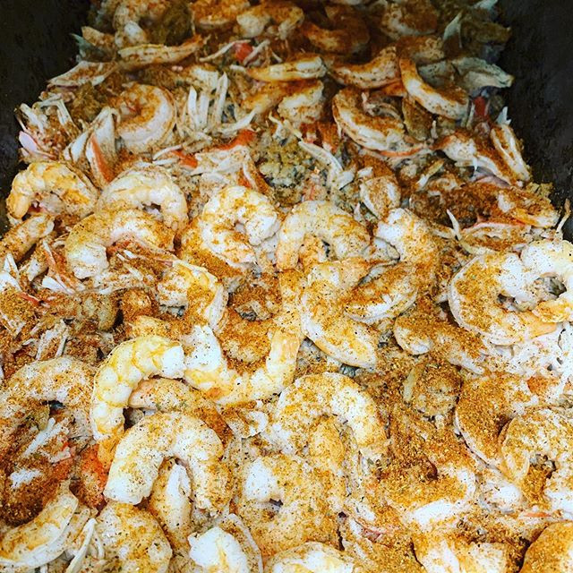 Seafood wings & surf and turf  mix is re