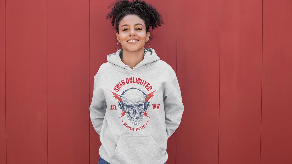 swag unlimited skull hoodie