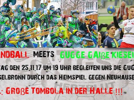 TGS Handball meets Gugge Gaiße Kieselbronn - Große Tombola!