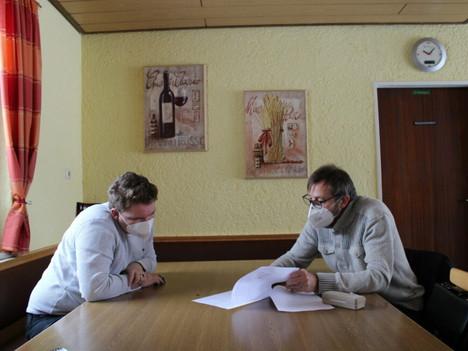 Wolfgang Taafel trifft Felix Herkens zum Gespräch