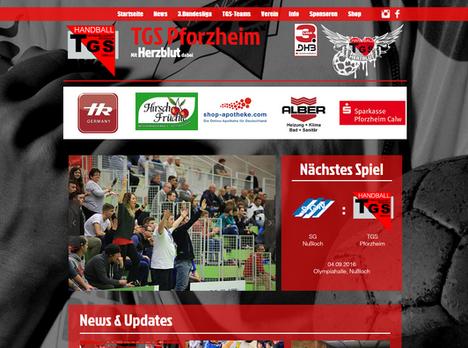 Neue Webseite der TGS Pforzheim