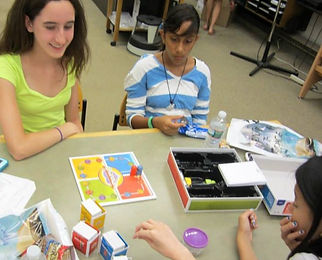 Teens playing boardgames at the Tenafly Public Library