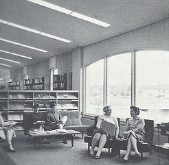 The adult reading area in the Tenafly Public Library circa 1963