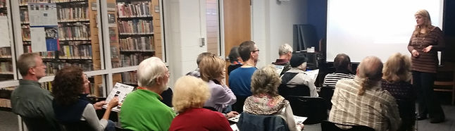 Adults at the 2017 Manhattan Shorts Film Festival viewing at theTenafly Public Library
