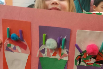 Image of a craft project from a Crafty Saturday program at the Tenafly Public Library.