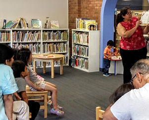 Bilingual storytime at the Tenafly Public Libary