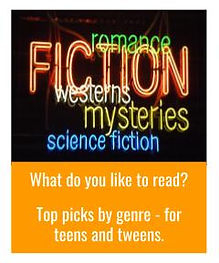 Image depicting many book genres in neon lights
