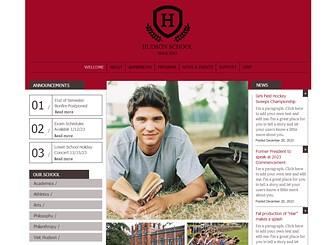 Private School Website Template Wix