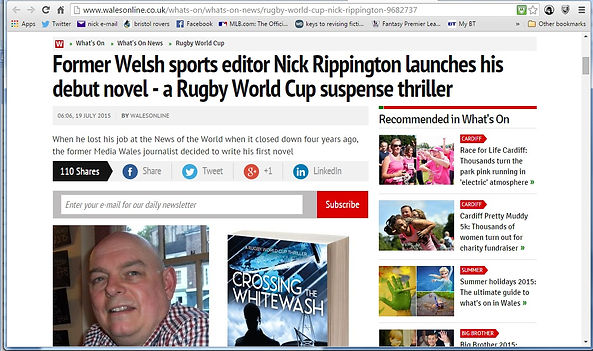 Wales online article with author Nick Rippington