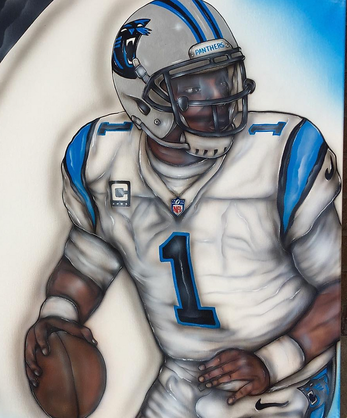 Cam Newton Painting