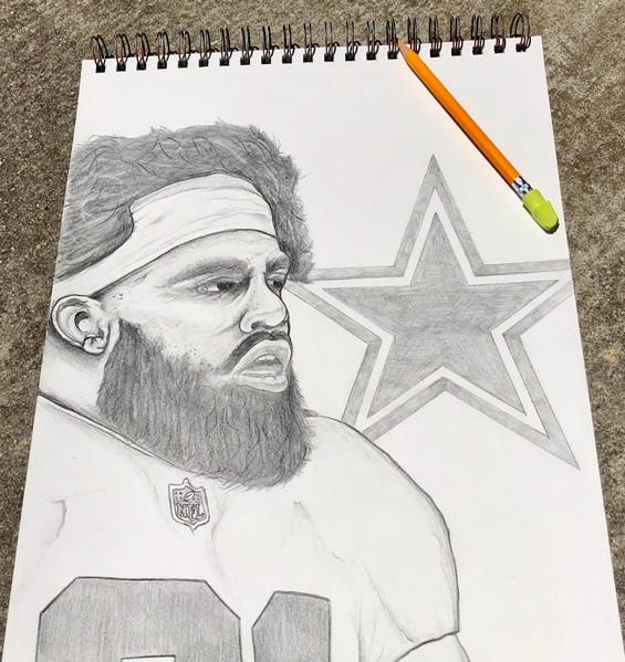 Ezekiel Elliott Drawing