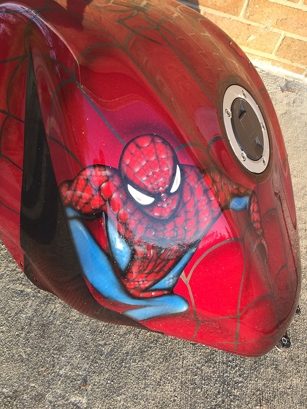 Spiderman Motorcycle Tank