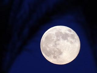 Super moon over Rancho Mirage CA.