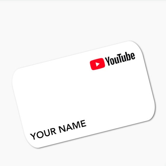 YouTube Convenience Card